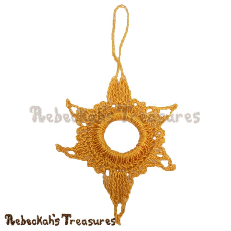 Free Follow His Star Ornament Crochet Pattern PDF by Rebeckah's Treasures! Grab it here: http://goo.gl/XcKtpZ #star #ornament #christmas