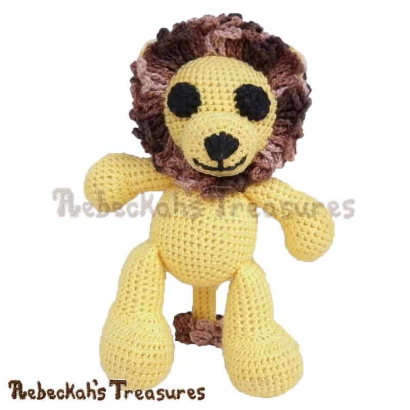 Amigurumi Abayomi Lion Crochet Pattern - $5.75 Digital PDF Download by Rebeckah's Treasures! Grab your copy today here: http://goo.gl/wPZ9Sl #crochet #pattern #toys #lion #softy #amigurumi #abayomi