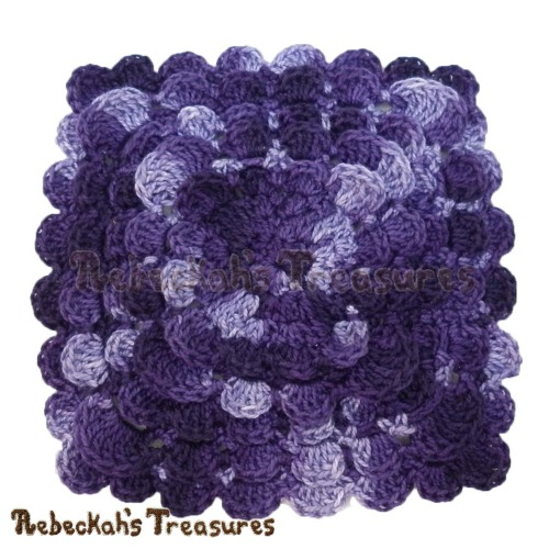 Free Textured Shell Coaster Crochet Pattern by Rebeckah's Treasures! See it here: https://goo.gl/4wAcRB #crochet #pattern #coaster