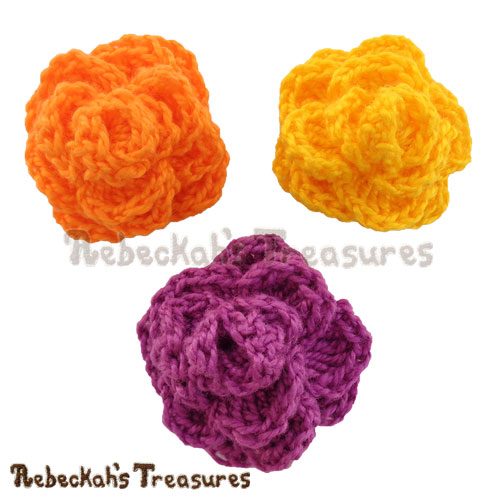 Ring Around the Rose Crochet Pattern - $2.75 Digital PDF Download by Rebeckah's Treasures! Grab your copy today here: https://goo.gl/jyucwM #rose #rosebud #crochet #pattern