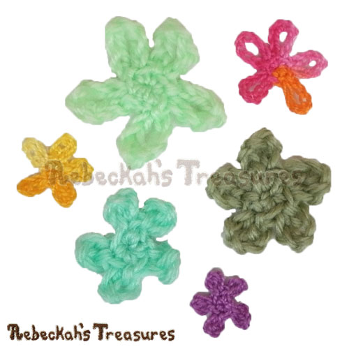 Free Sea Flower Motifs Crochet Pattern PDF by Rebeckah's Treasures! Grab it here: http://goo.gl/3OY1Vc #motif #crochet #seaflower