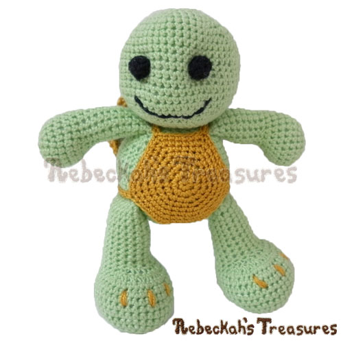 Amigurumi Timothy Turtle Crochet Pattern - $5.75 Digital PDF Download by Rebeckah's Treasures! Grab your copy today here: http://goo.gl/mKUrDc #crochet #pattern #toys #turtle #softy #amigurumi