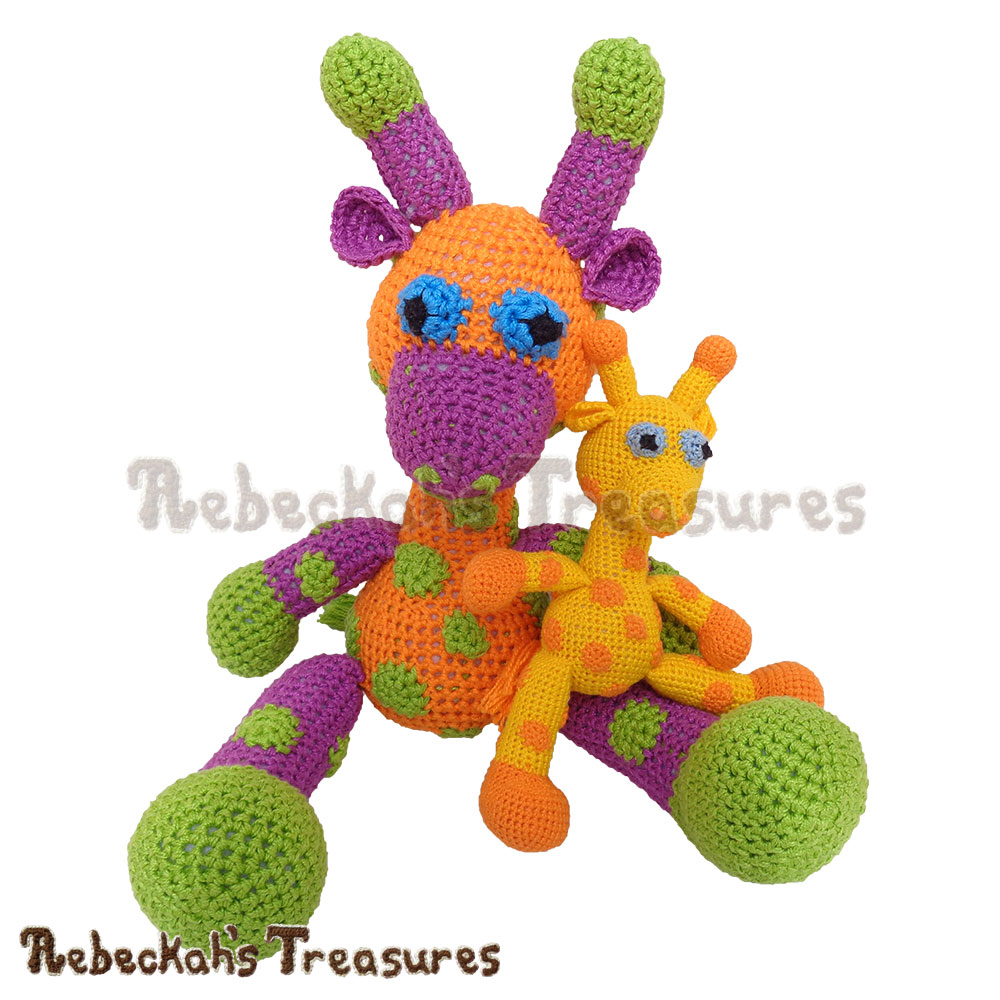 Otis Giraffe Amigurumi Crochet Pattern - $5.75 Digital PDF Download by Rebeckah's Treasures! Grab your copy today here: https://goo.gl/dxvSYs #amigurumi #giraffe #crochet #pattern
